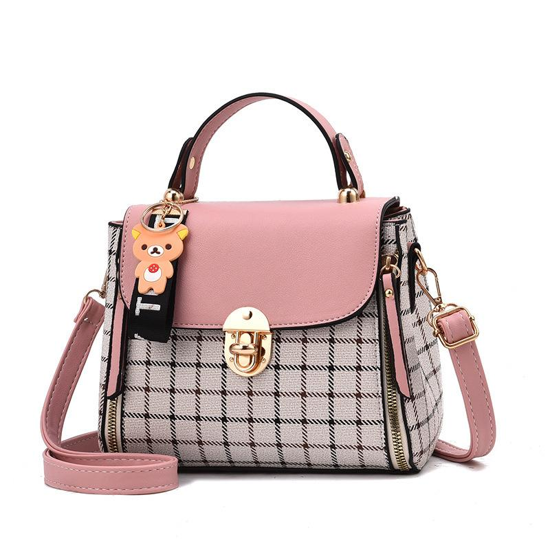 a36f78cf3f7e 2019 Fashion 2018 Fashion Girls Handbags For Women Commuter Package PU  Patchwork Soft Female Totes Top Handle Bags Luxury Women Bags Leather Purse  Womens ...