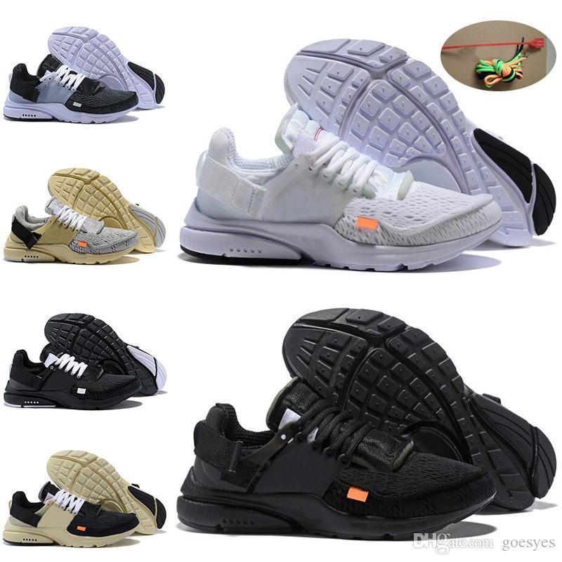 606ec39f8eef0a 2019 New Presto V2 Ultra Running Shoes Triple Air White Black Men ...