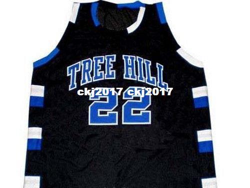separation shoes f3732 8ba93 Cheap Mens BLACK LUCAS SCOTT #22 ONE TREE HILL RAVENS JERSEY BLACK NEW ANY  SIZE XS - 5XL Retro Basketball Jerseys NCAA College