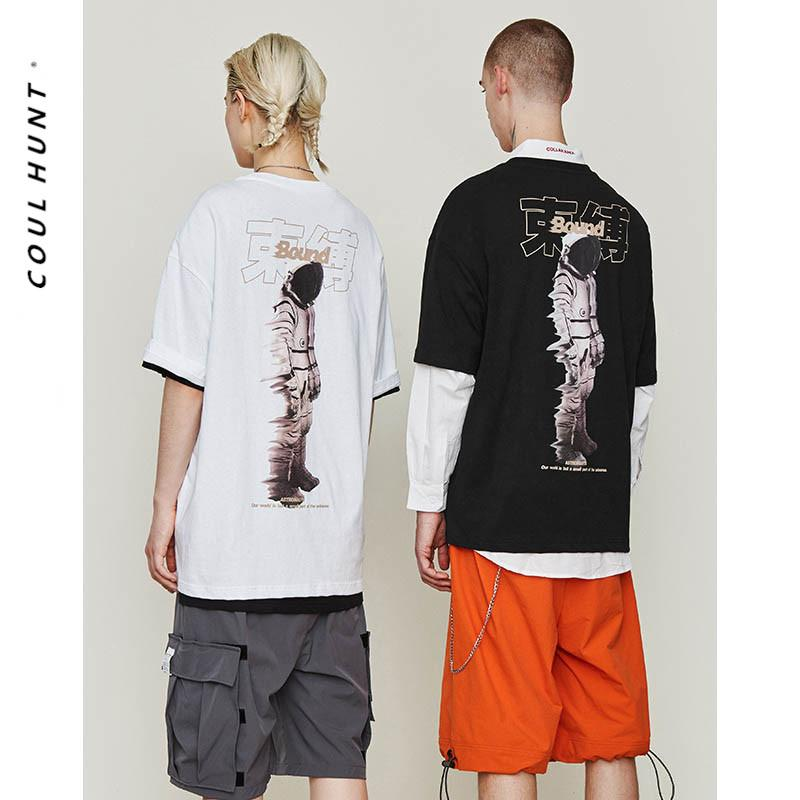 40342018a 2019 SS Unisex Tide Brand Cool Space Astronaut Print T Shirt Hip Hop Rock  Astronaut Graphic Black White Short Sleeve Tees Sports T Shirts Men T Shirts  From ...