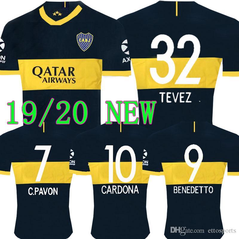 495c8ccc2a Compre TOP Tailândia Novo 2019 2020 Boca Juniors Futebol Jersey 2019 GAGO  CARLITOS Casa Camisa De Futebol TEVEZ Boca Juniors Camisetas De Futbol De  ...