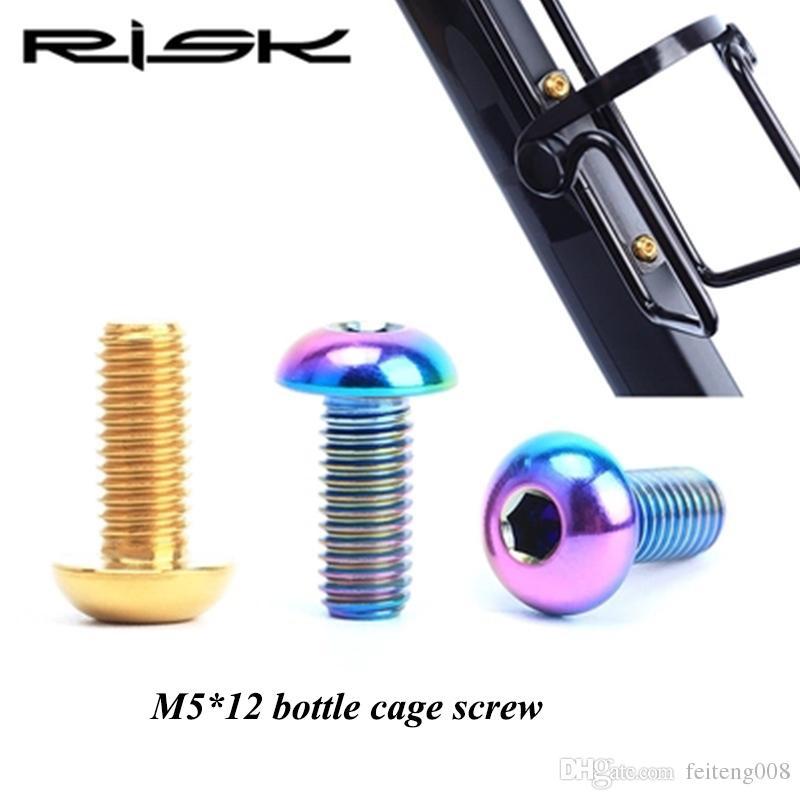 2pcs/Lot Titanium Bolts M5x12mm For Bicycle Bottle Cage Install MTB  Mountain Bike Bottle Holder Pump Ti Screws Bike Parts #364720