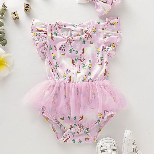 Summer Toddler Baby Girls Unicorn Tutu Romper Bodysuit Clothes Outfits One Piece
