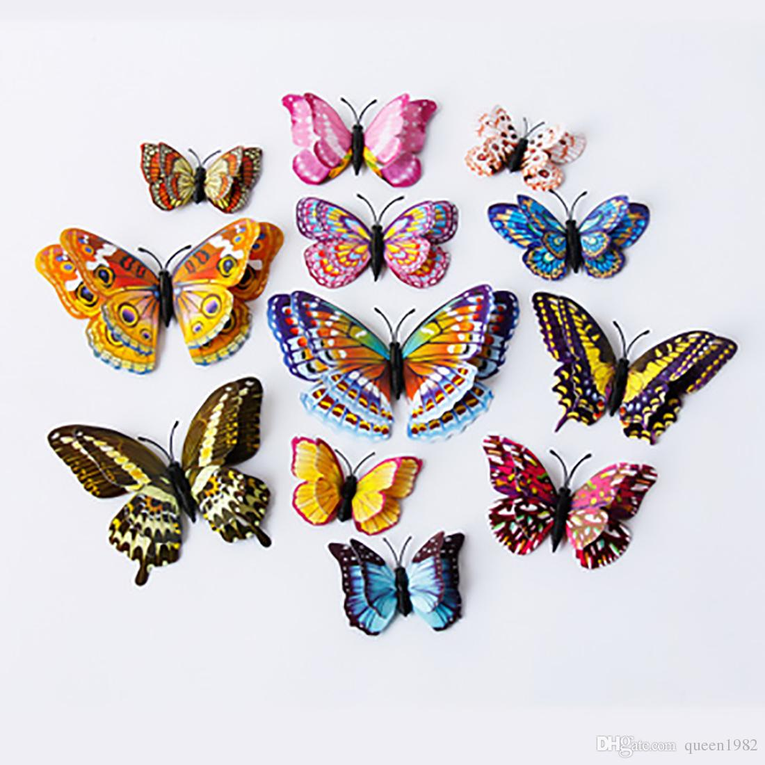 12pcs Wall Decal Butterfly, Wall Sticker Decals for Room Home Nursery Decor Luminous for living room