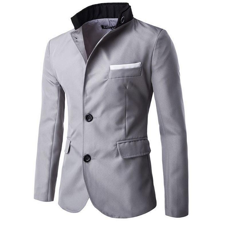 a881e3d31f Compre Envío Rápido Otoño Nueva Moda Estilo Blazer Hombres