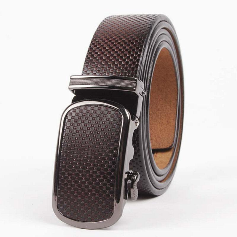 New Designer Best Quality Men's Solid Genuine Leather Belt Brand Male Waist Strap Automatic Buckle Belts For Jeans Gift