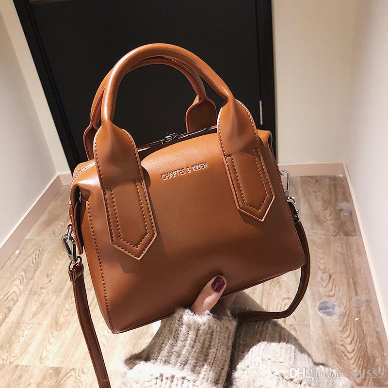 ef60a80ede72 New Fashion Ladies Plain Ladies Leather Shoulder Tote Bags Women ...