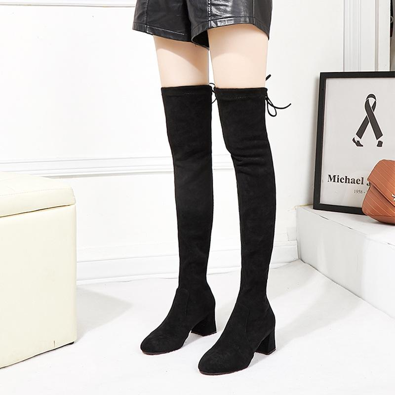 0c72b2299 Over-the-knee Boots For Women Cotton Fabric Shoes For Women Shoes ...