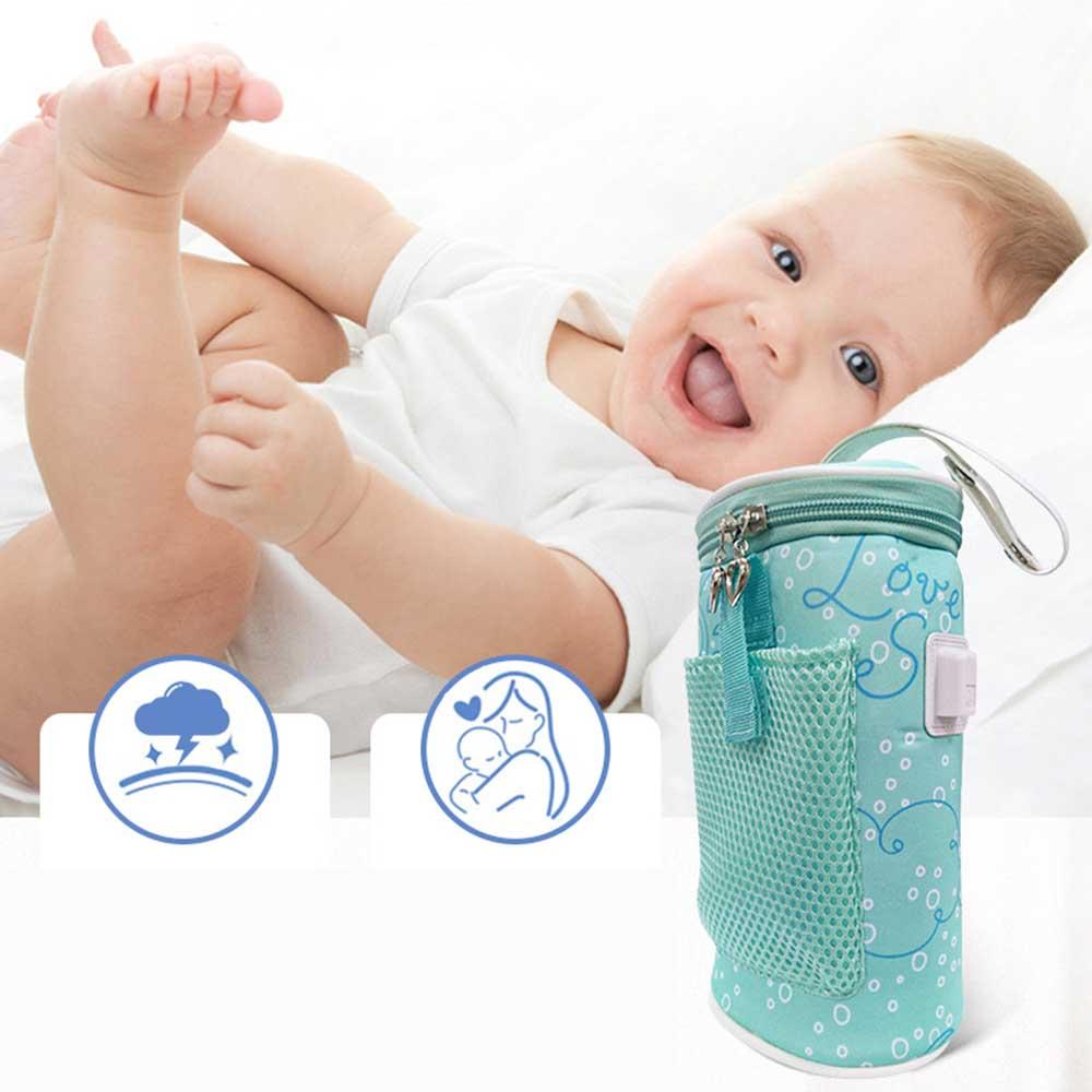 Insulated Bottle Bag Thermal Feeding Warmer Portable Car USB Heating Intelligent