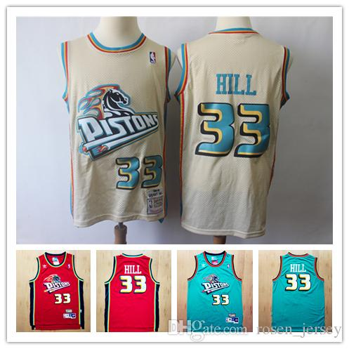 2019 Mitchell Ness M N Retro Mens 33 Grant Hill Pistons Retro Jerseys  Stitched Hardwood Classic Mesh NCAA Grant Hill Retro Jerseys Mitchell Ness  Jerseys ... e4c6cc5d0