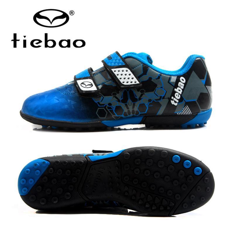 96aa2b159 TIEBAO Kids Football Boots TF Turf Soles Boys Girls Training Soccer Shoes  Waterproof Anti Wear Sneakers EU30 38 Parent Kid Shoes Boys Sneakers Sale  Kids ...