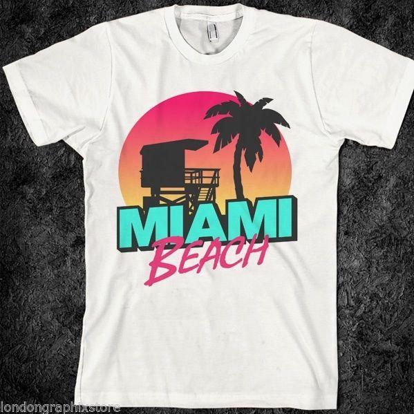 05c308a3b Miami beach, T-Shirt, SOBE, south beach, Miami, florida, party, surf, cotton