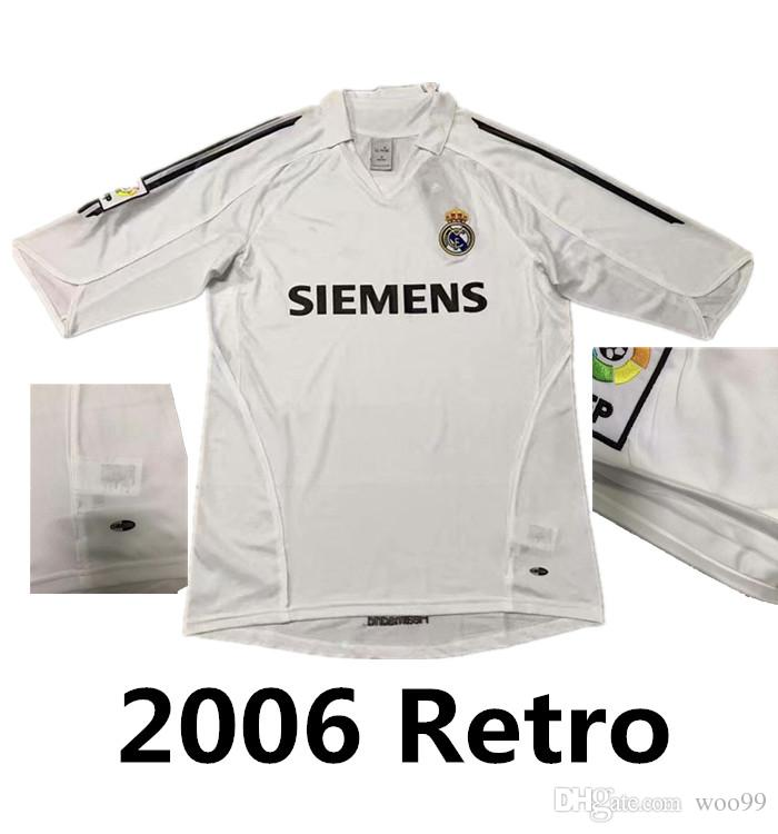 new concept 0d2f2 a70eb 2005 2006 Real Madrid Retro Shirts Retro Soccer Jerseys Benzema ASENSIO  Zidane RONALDO Beckham 05 06 Real Madrid football shirt