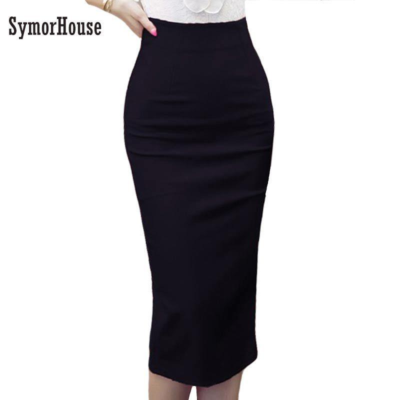 3affcc9d7d 2019 High Waist Pencil Skirts Plus Size Tight Bodycon Fashion Women Midi  Skirt Red Black Slit Women'S Skirt Fashion Jupe Femme 5xl Y19043002 From  Zhengrui01 ...