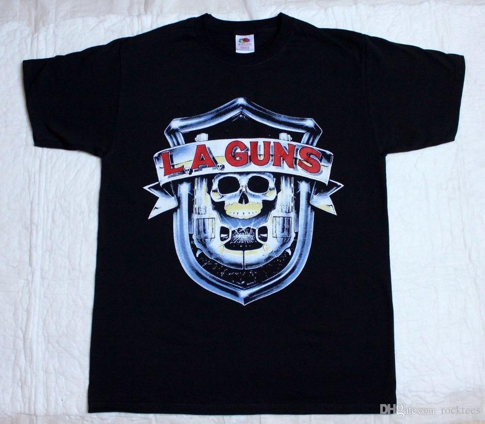 Crazy T Shirts Crew Neck Comfort soft La Guns L.A.Guns No Mercy Tour 1988 Metal Rock T-Shirt (S 3XL) Short Sleeve Mens Shirt