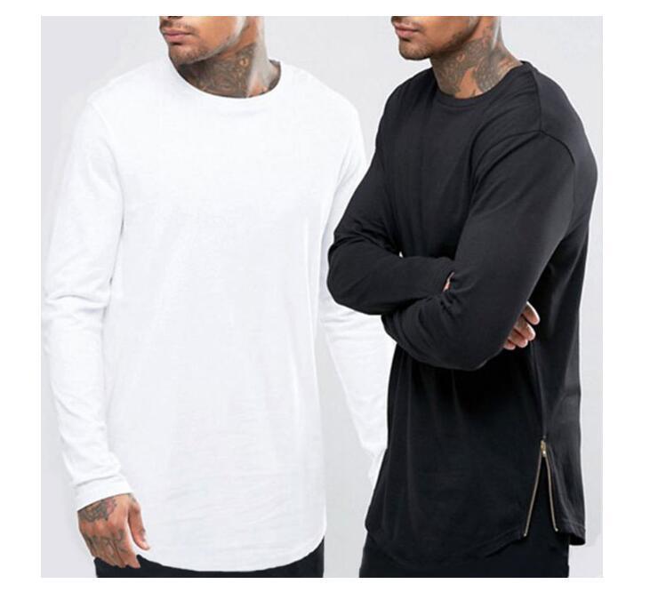 Fashion Men Extended T Shirt Long Sleeve Hip Hop Tee Shirts Women Justin  Bieber Swag Clothes Harajuku Rock T Shirt Homme 24 Hour Tee Shirts T Shirts  T ... dec0dcca65