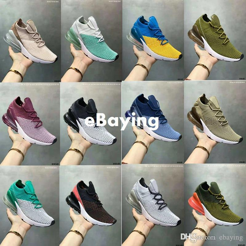 e2b1ab26c9b25c 270s 270 Knit Igloo Black White Oreo Olive 27C Work Blue Clear Emerald Mens  Running Shoes for Women Sports Sneakers Size 5.5-11 Running Shoes 2017  Running ...