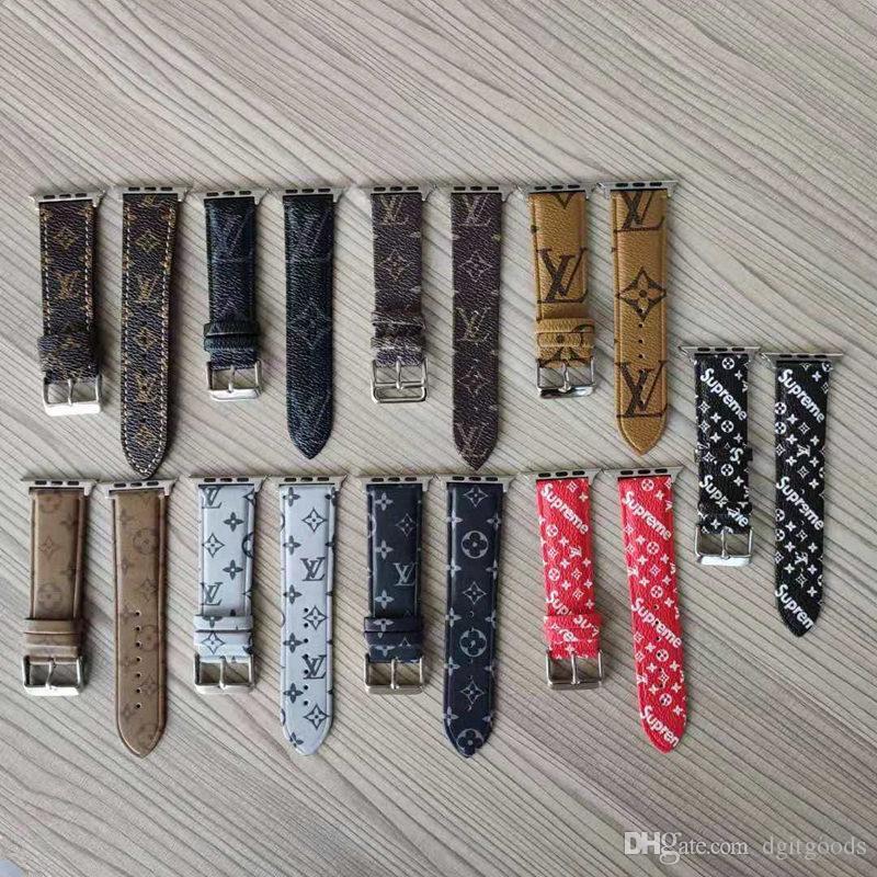 Para Cuero Pulseras Sport 40mm Bandas De Serie Iwatch 38 Apple 42 Lujo Sup Inteligentes Pu 3 4 44mm Correas 2 Loop 1 Reloj wZiPOTkuX