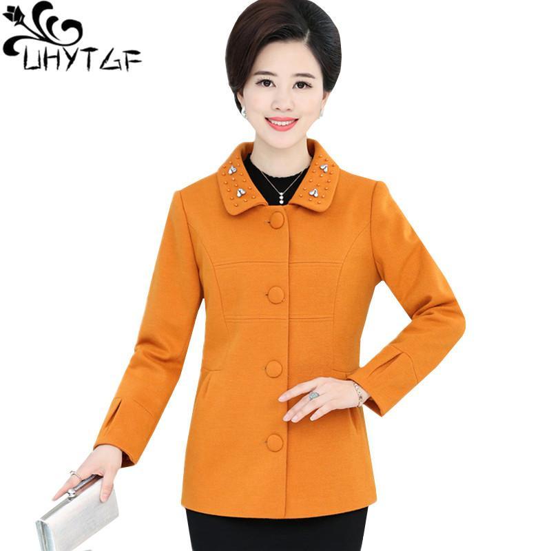 66681763672 UHYTGF 4XL Plus Size Jacket Ladies Elegant Female Spring Autumn Wool ...