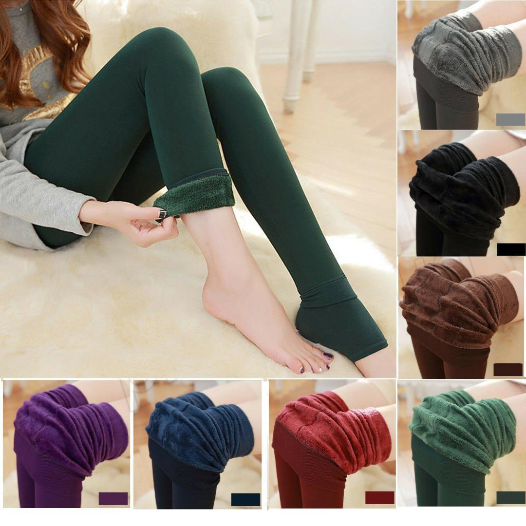 7f07704e16405 2019 Women Winter Thick Warm Fleece Lined Tights Thermal Stretchy Slim  Skinny Leggings Tights From Douban, $35.38 | DHgate.Com