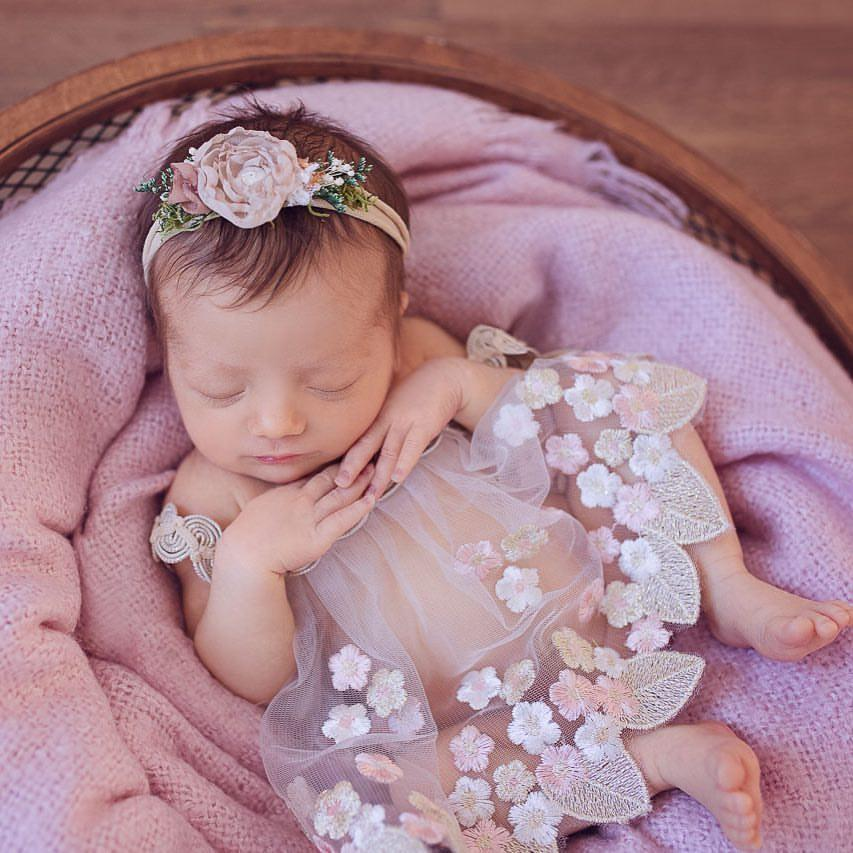 2df6e630d2c2 2019 2018 New Romper   Headband Set Bebe Newborn Photography Props  Photography Prop Clothes Newborn Girl Photo Prop Vintage Rompers Y18120801  From ...