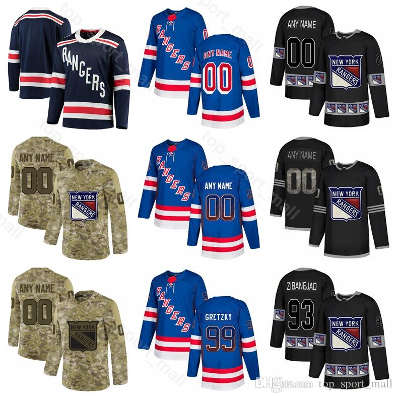 new product df1d9 07afb New York Rangers Jimmy Vesey Jersey Ice Hockey Vladislav Namestnikov Mark  Messier Brady Skjei Neal Pionk Jesper Fast Sequin Custom Name
