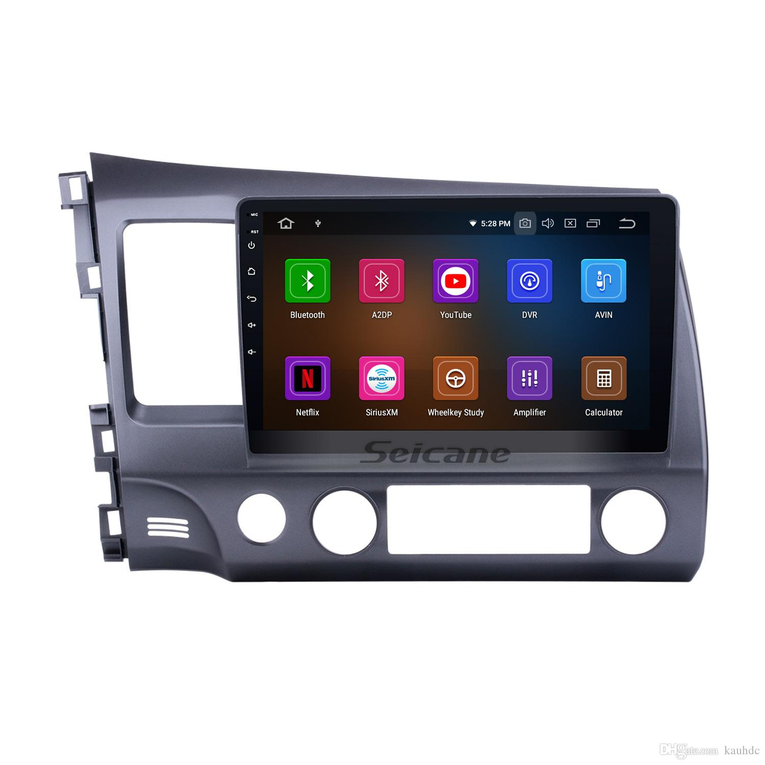 Android 9.0 HD 1024*600 touch screen Car GPS Navi for 2006-2011 Honda CIVIC left with Bluetooth WIFI support car dvd Steering Wheel Control
