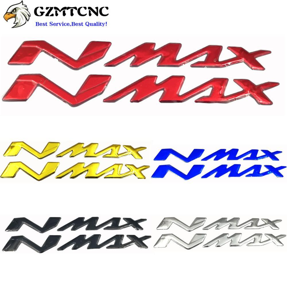 "Motorcycle 3D Emblem Badge Decal Fuel Gas Tank Decals Fairing Side Logo ""NMAX"" Sticker For Yamaha NMAX155 NMAX125 NMAX150"
