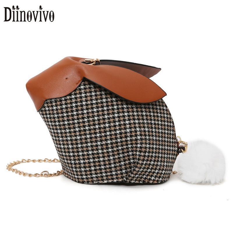 Diinovivo 3D Cute Handbag Cartoon Mini Women Bag 2019 New Shoulder Bag  Small Rabbit Messenger Personality Chain Bags DNV0914 Shoulder Bags Cheap  Shoulder ... 61c3325c51558