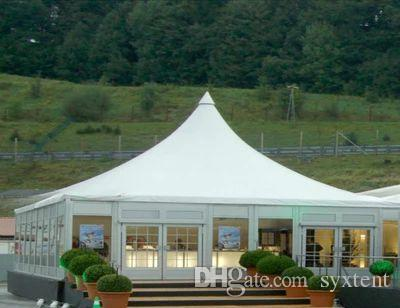 Cheapest price high quality aluminum/steel commercial trade show tent with PVC side wall