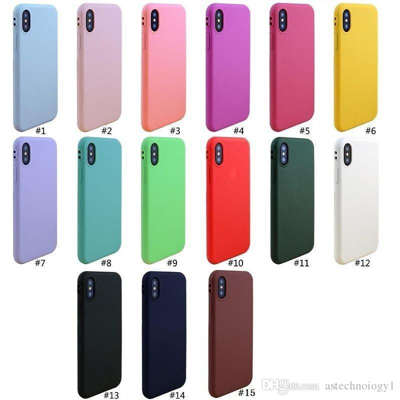 New High Quality Candy Color Soft TPU Silicone Mobile Cell Phone Case Slim Cover For iphone XS max XR X iphone 6 6S 7 8 plus 5S with opp bag