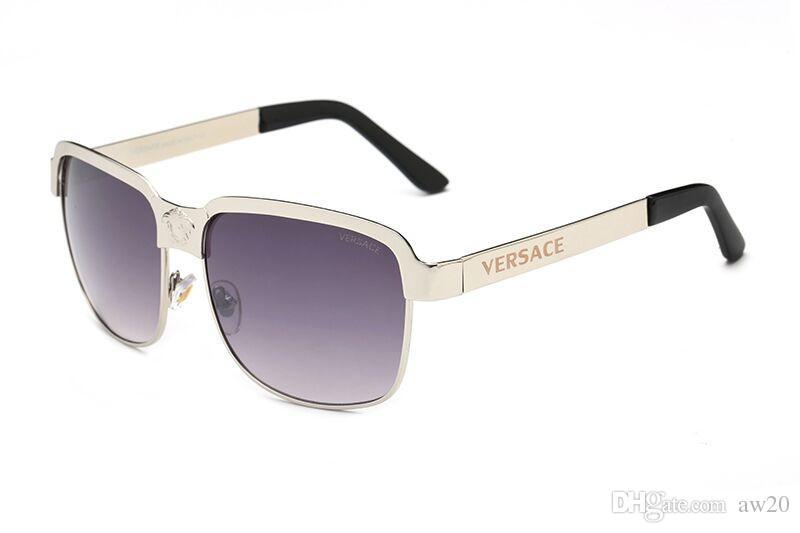 stile unico lusso vasta selezione di Square Pilot Sunglasses Gold Metal/Grey Gradient Sonnenbrille occhiali da  sole Designer Sunglasses vintage glasses unisex New