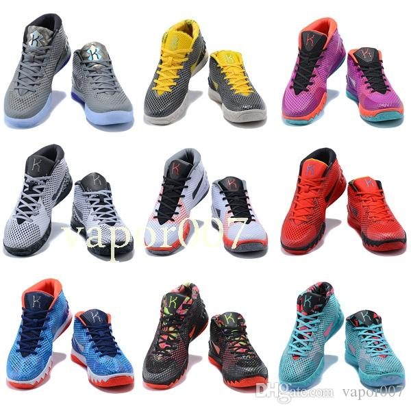 a27c3441170c 2019 New Quality Designer Fashion Shoes Kyrie 1 Irving Neon Blends  Chaussures Men 1s Wolf Grey Team Red Sports Basketball Shoes Basketball Shoes  Shoes Men ...