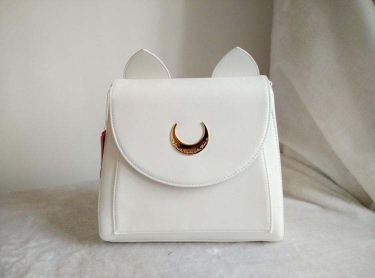 MSMO Summer Limited Sailor Moon Backpack Cute Fold Cat Shoulder Bag School Bags For Teenager Girls Book Bag Mochila Metal Moon