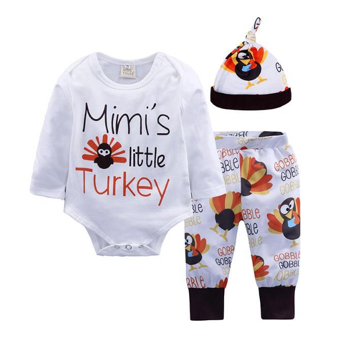 f3015fa09 Infant Baby Girls Clothes 2019 Boys Long Sleeve Letter Romper Pants Turkey  New Year Jumpsuit Outfit Boy Clothes Clothing Sets Online with  8.75 Piece  on ...