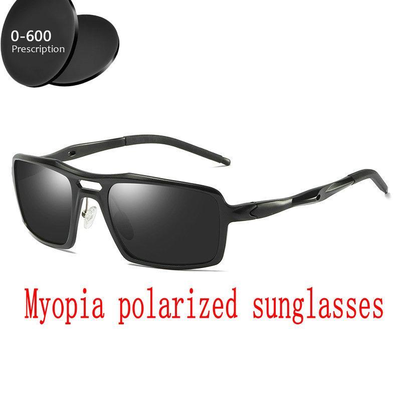 a3db37508e6b3 Compre Miopia Óculos De Sol Polarizados Custom Made Miopia Menos Lente De  Prescrição 1 A 6 Espelho Quadrado Óculos De Sol De Magnésio De Alumínio FML  De ...