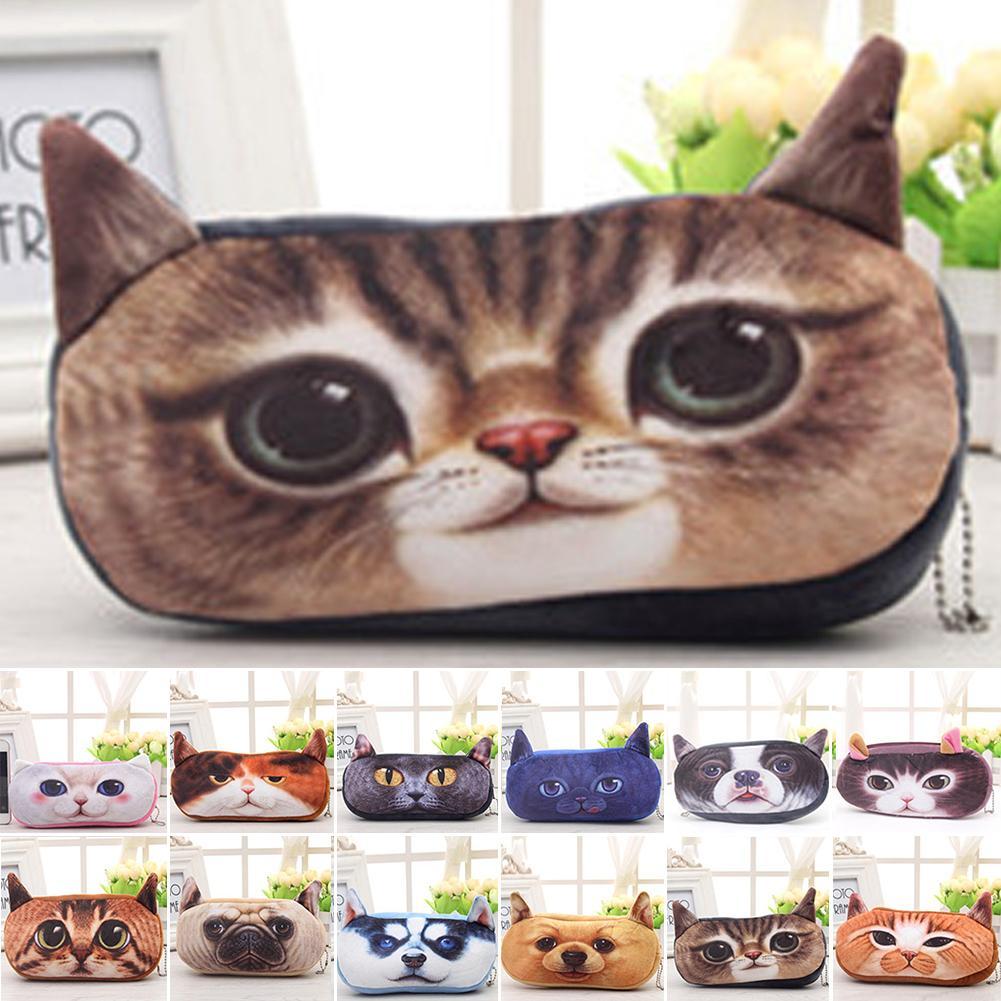55f89223daf2 New Mini 3D Cat Plush Coin Purse Animals Prints Zipper Wallets Harajuku  Children Bag Women Cute Bag Travel Purse Cute Wallets From Pinkvvv, $35.39|  DHgate.