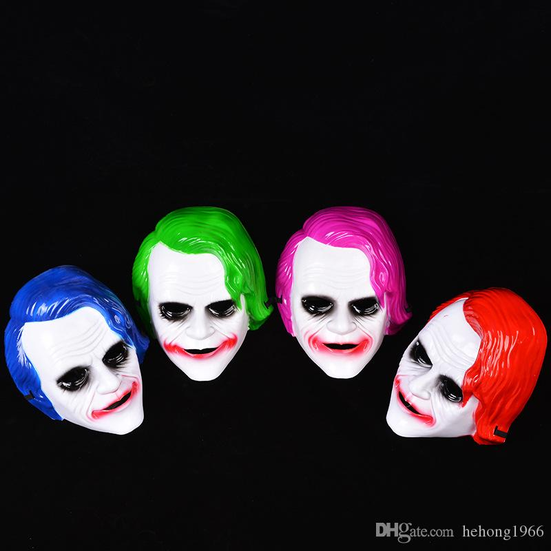 Dark Knight Full Mask Plastic Horrible Halloween Masquerade Cosplay Clown Fearsome Party Cosplay Supplies Jester Jolly Masks 3 2jqa hh