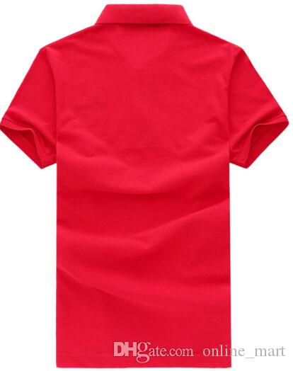 Летний стиль новые мужские рубашки поло повседневные топы тройники футболка поло Slim Sport Shirt мужчины повседневная Camisa Polos белый синий