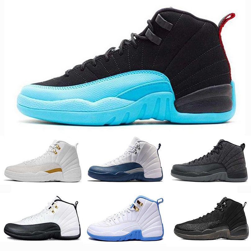 e078e3a856c4 2019 12 Original 12s Mens Basketball Shoes Air Taxi OVO White Gym Red Dark  Grey Blue Suede Flu Game CNY Designer Sports Sneakers 40 47 From ...