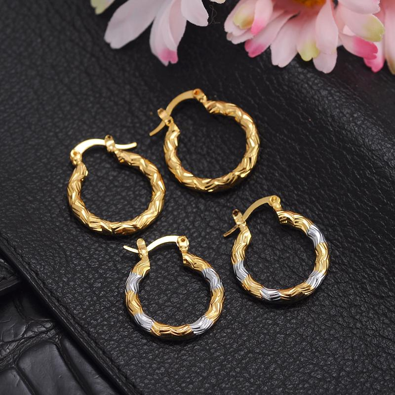 ashion hoop earrings Bangrui Vintage Fashion Lucky Gold Color hoop Earrings For african Womens girls Bohemia Wedding Party Jewelry Arab g...
