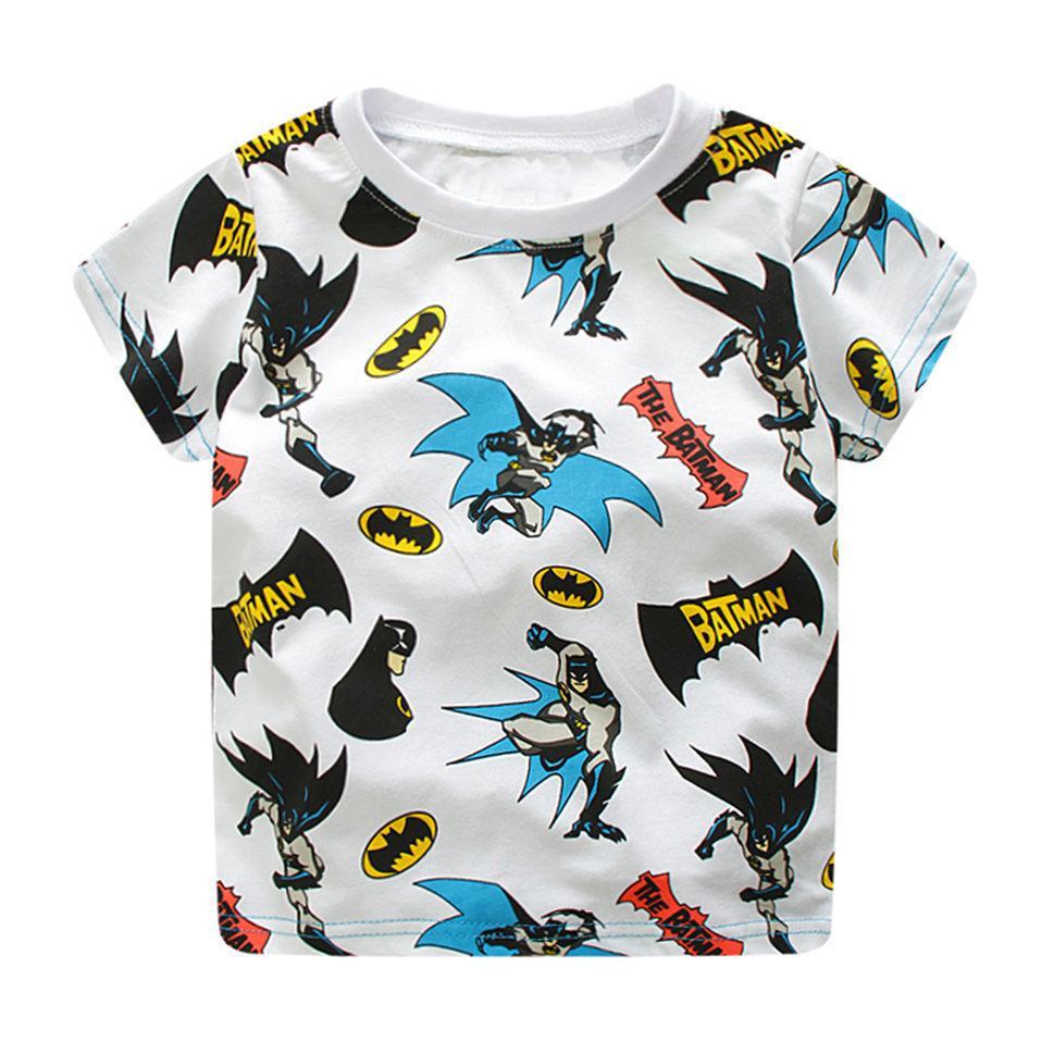 e206b1fdb Compre Atacado Super Hero Batman Camisa Do Bebê Tees Roupas De Verão ...