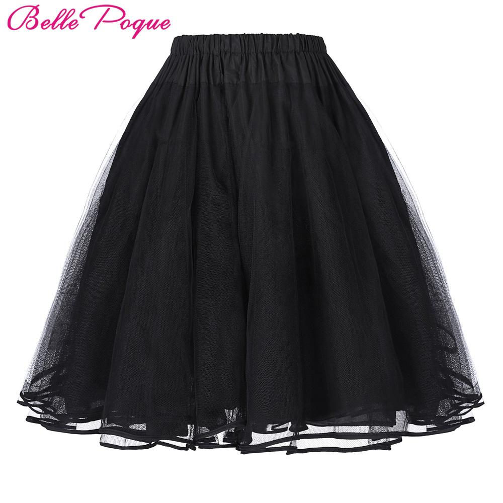 Tulle Skirts Rockabilly Swing Petticoat Underskirt Women Summer Skirts Vintage Black White Wedding Bridal Crinoline Tutu