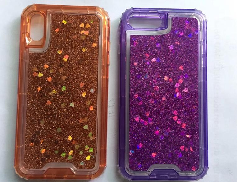 GOOD Liquid phone case star bling Glitter Floating Quicksand Water Flowing Ultra Cover Tpu Liquid Glitter Phone Case