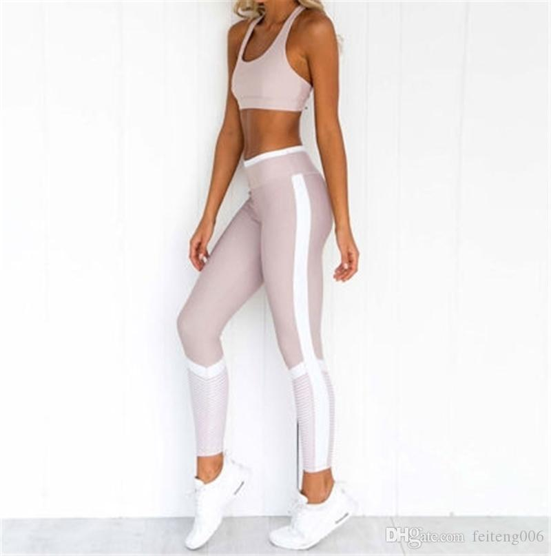 1fde6cab040 2019 New Set Women Sport Suit Gym Workout Clothes Long Sleeve Fitness Crop  Top And Scrunch Butt Leggings Yoga Set #655648 From Feiteng006, $31.76 |  DHgate.