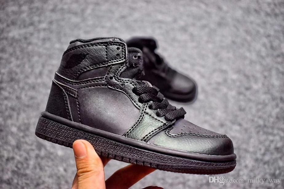 Nike air jordan 1 retro Kinder 12 Schuhe Kinder Basketball Schuhe Junge Mädchen 1s OVO Französisch Blau Die Master Taxi Playoff Sportschuhe Kleinkinder Geburtstagsgeschenk