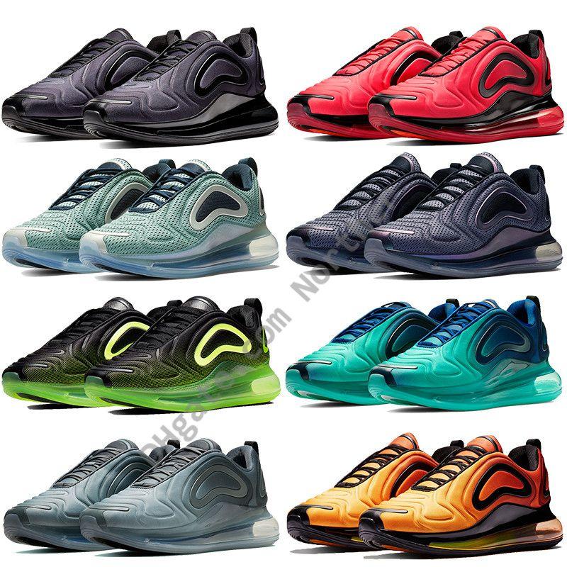 2019 Nuevo Nike air max 720 Northern lights diseñador de zapatos para hombre mar bosque voltio futuro triple negro zapatillas para mujer rosa mar