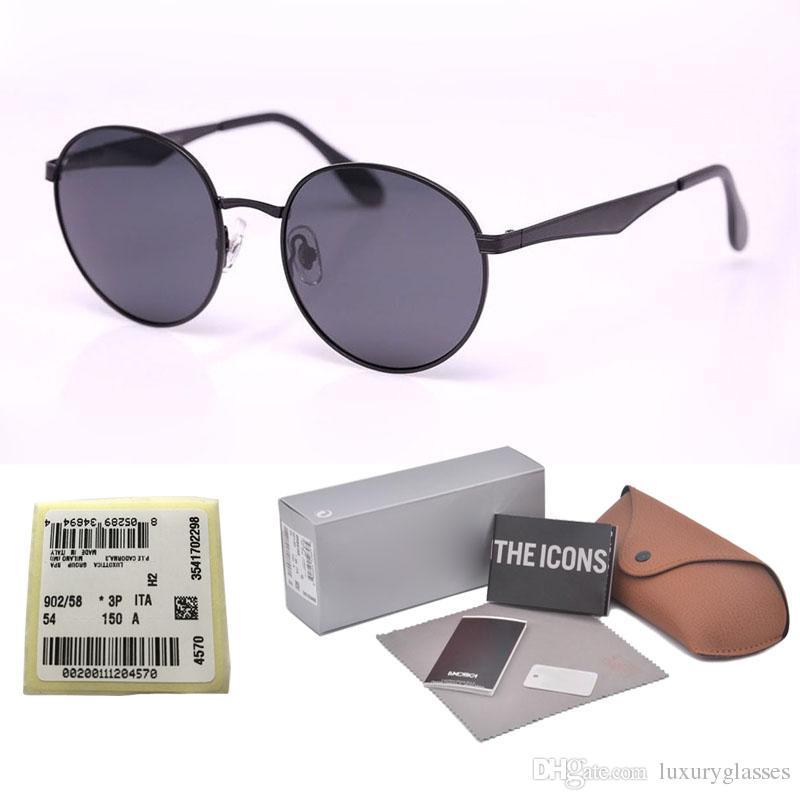 fabe66647d New Arrival Polarized Sunglasses For Men Women Brand Design Round Metal  Frame Polaroid Lens Driving Glasses With Original Cases And Label Glasses  Frames ...