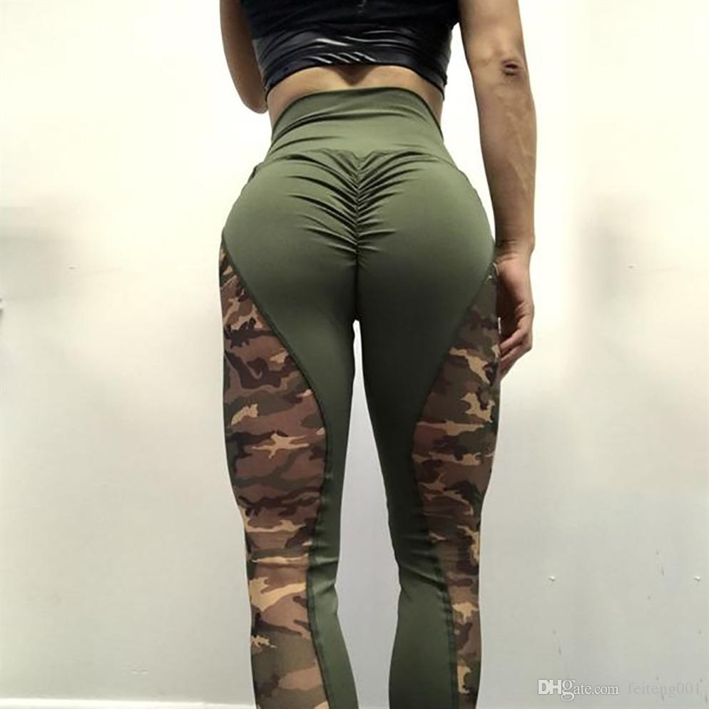e9a9b390d6a6 2019 Sports Yoga Pants Camouflage Sexy Training Leggings Elastic Gym  Fitness Workout Running Tights Compression Trousers Dropship  381030 From  Feiteng001