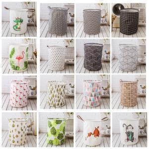 Ins Storage Print Basket 22styles Cactus Flamingo Organization Pouch Kids Toys Storage Basket Animal Bucket Clothing Laundry Bag Aaa1612